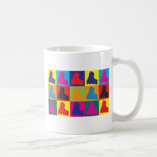 Skating Pop Art Classic White Coffee Mug