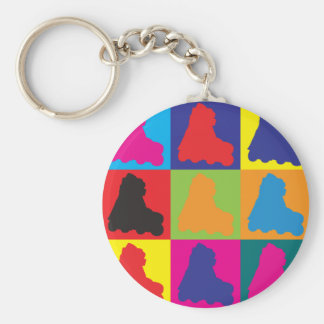 Skating Pop Art Key Chain