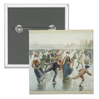 Skating, published by L. Prang and Co. Button
