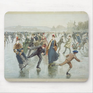 Skating, published by L. Prang and Co. Mouse Pad