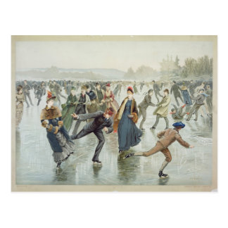 Skating, published by L. Prang and Co. Postcard