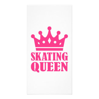 Skating Queen Picture Card