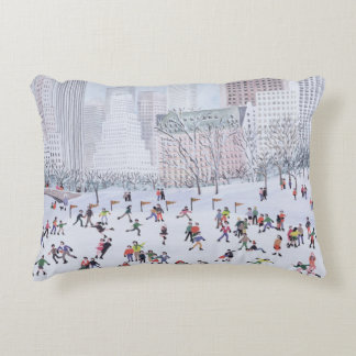 Skating Rink Central Park New York 1994 Accent Pillow