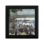 Skating runners in the Bois de Bologne by Renoir Jewelry Box