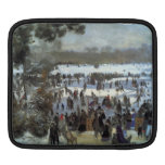 Skating runners in the Bois de Bologne by Renoir iPad Sleeve