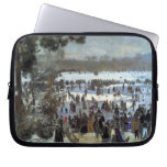 Skating runners in the Bois de Bologne by Renoir Computer Sleeve