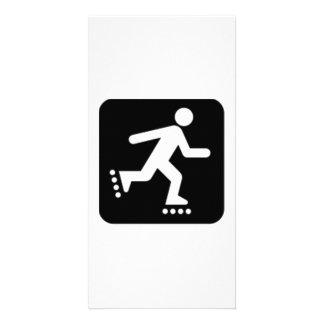 Skating Sign Photo Greeting Card