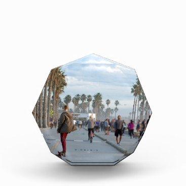 Beach Themed skating to venice beach acrylic award