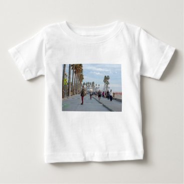 Beach Themed skating to venice beach baby T-Shirt