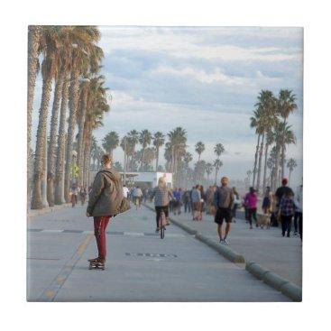 Beach Themed skating to venice beach ceramic tile