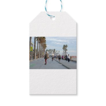 Beach Themed skating to venice beach gift tags