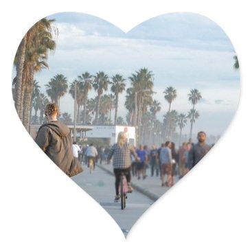 skating to venice beach heart sticker