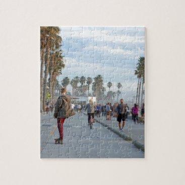 Beach Themed skating to venice beach jigsaw puzzle