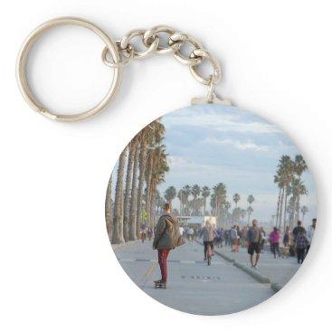 Beach Themed skating to venice beach keychain