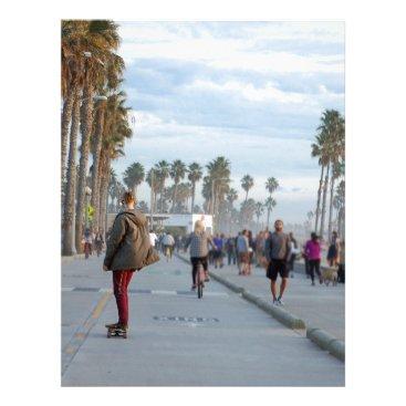 Beach Themed skating to venice beach letterhead