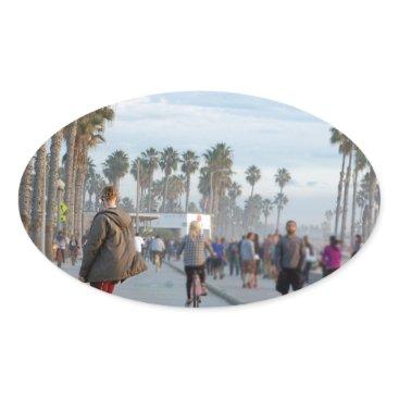 skating to venice beach oval sticker