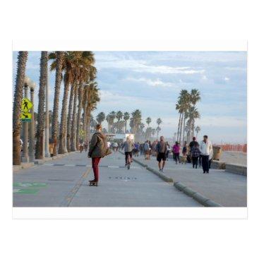 Beach Themed skating to venice beach postcard