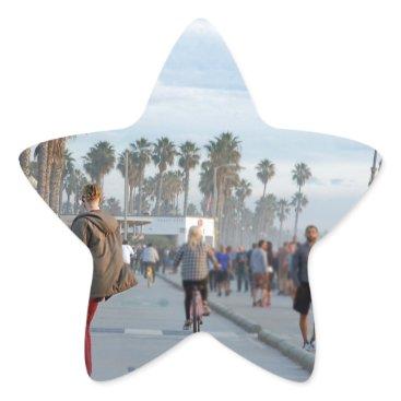 skating to venice beach star sticker