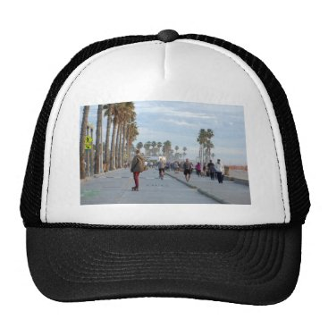 Beach Themed skating to venice beach trucker hat