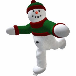 Skating Vintage Snowman Cutout