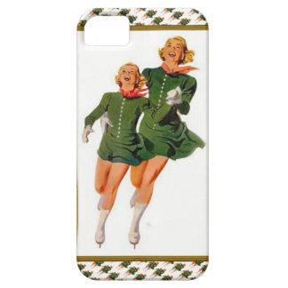 Skating - Xmas skaters on skates iPhone SE/5/5s Case