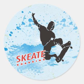 Skeate Boarding Classic Round Sticker