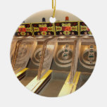SKEE BALL! Double-Sided CERAMIC ROUND CHRISTMAS ORNAMENT