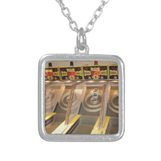 SKEE BALL! SILVER PLATED NECKLACE