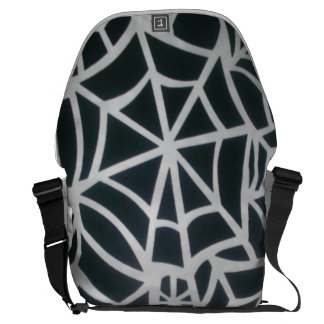 Skeezer Black and White Rickshaw  Messenger Bag