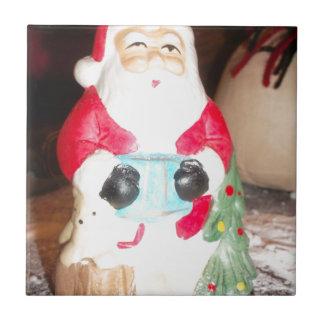 Skeezer Papá Noel lindo .JPG Azulejo Cuadrado Pequeño