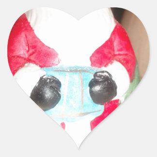 Skeezer Papá Noel lindo .JPG Pegatina En Forma De Corazón