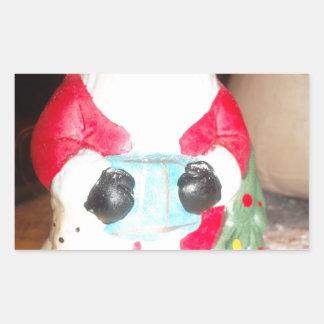 Skeezer Papá Noel lindo .JPG Pegatina Rectangular