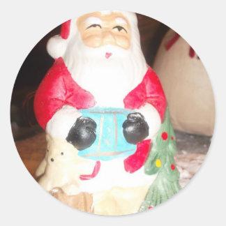 Skeezer Papá Noel lindo .JPG Pegatina Redonda