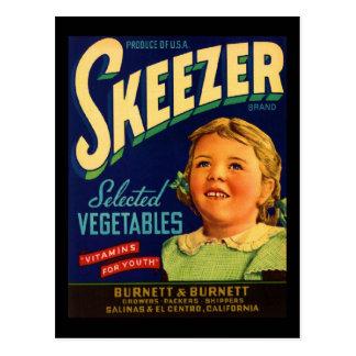 Skeezer Post Card