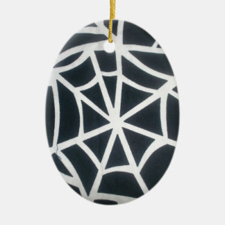 Skeezer White and Black Stripes Black and White St Ceramic Ornament