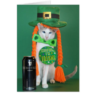 Skeezix McCat --- Cat St. Patrick's Day Card