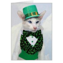 Skeezix McCat St Patrick's Day Card