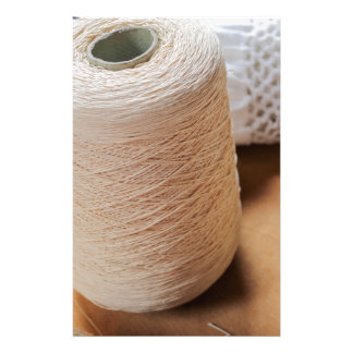 skein of wool and frame stationery