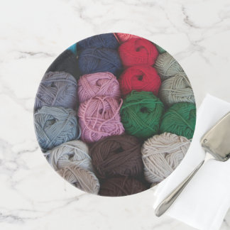 Skeins of yarn cake stand