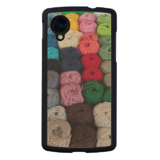 Skeins of yarn carved® maple nexus 5 case