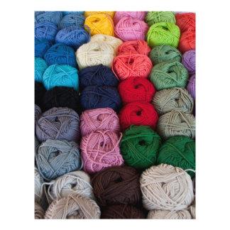 Skeins of yarn flyer