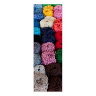 Skeins of yarn mini business card