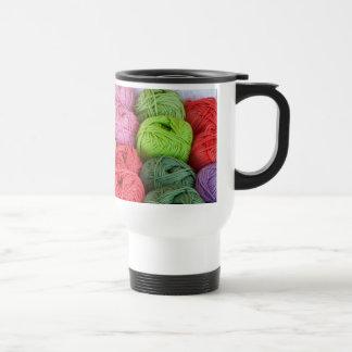 Skeins of yarn 15 oz stainless steel travel mug