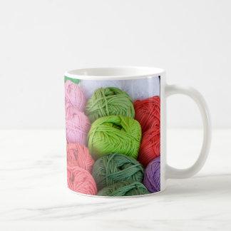 Skeins of yarn classic white coffee mug