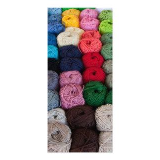 Skeins of yarn rack card
