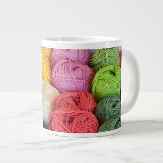 Skeins of yarn 20 oz large ceramic coffee mug