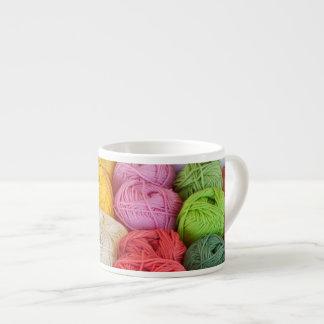 Skeins of yarn 6 oz ceramic espresso cup
