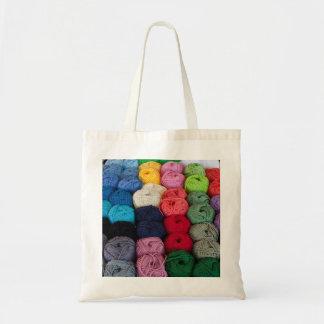 Skeins of yarn tote bag