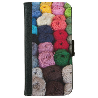 Skeins of yarn wallet phone case for iPhone 6/6s