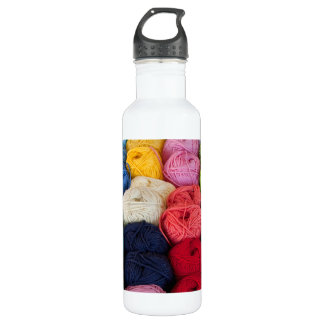 Skeins of yarn water bottle